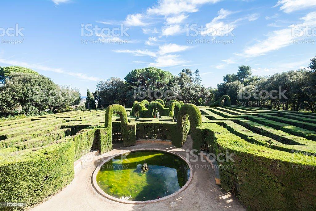 Labyrinth Park of Horta, Barcelona, Spain stock photo