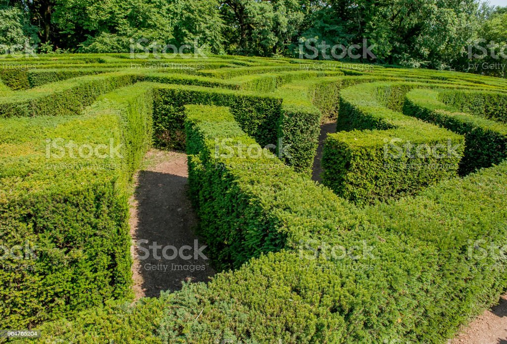 labyrinth royalty-free stock photo
