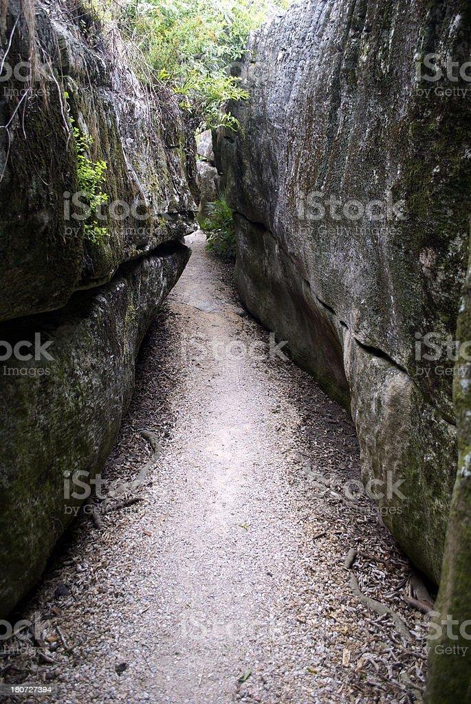 Labyrinth Rocks Walkway, Takaka, Golden Bay, New Zealand royalty-free stock photo