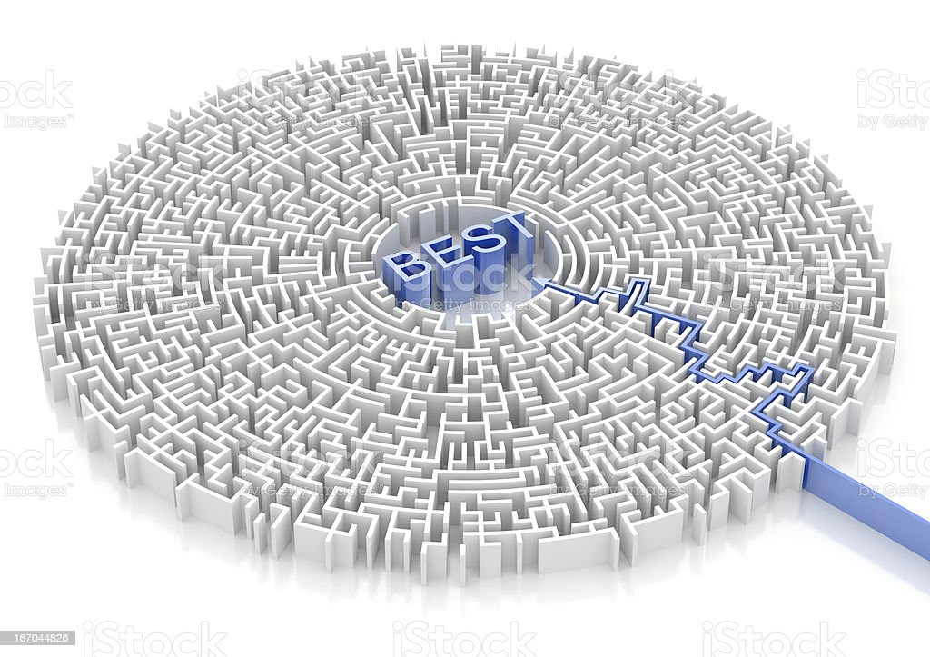 Labyrinth with BEST word royalty-free stock photo