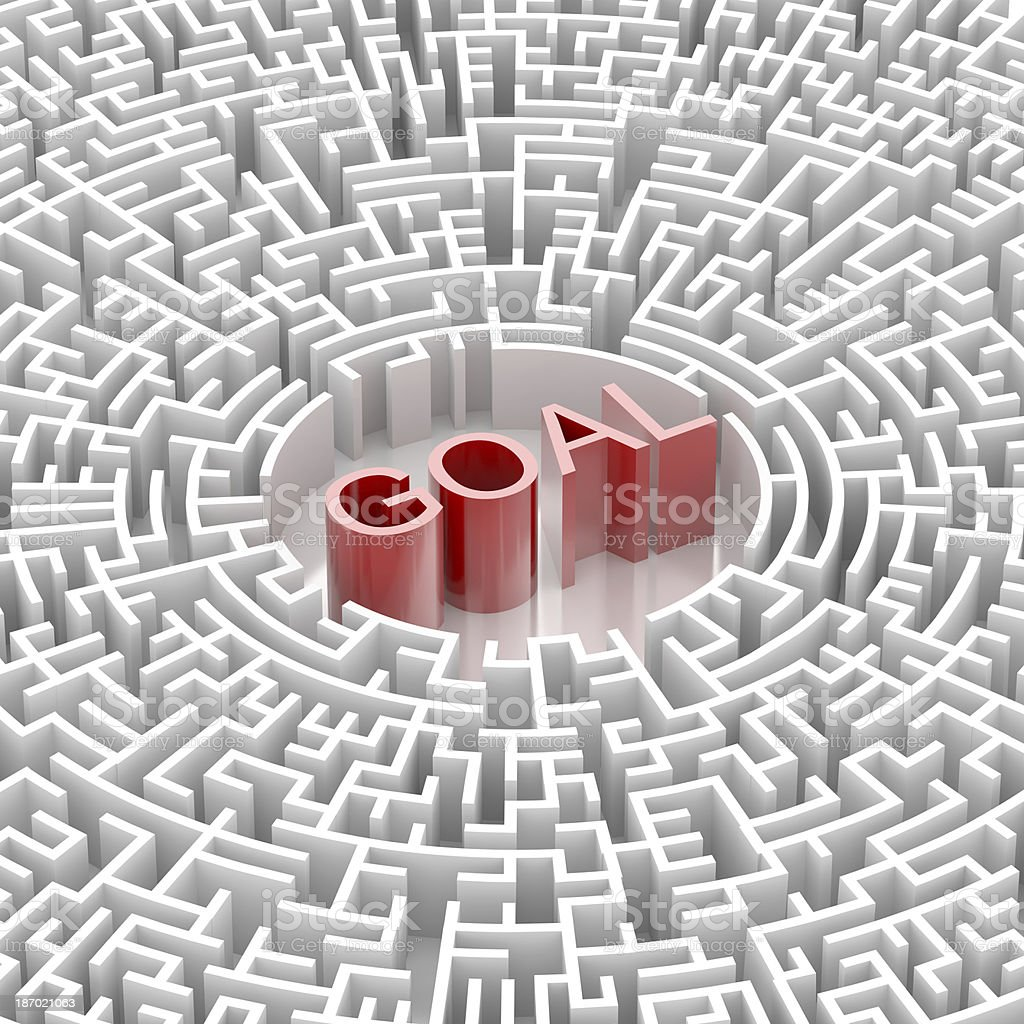 Labyrinth with GOAL word royalty-free stock photo
