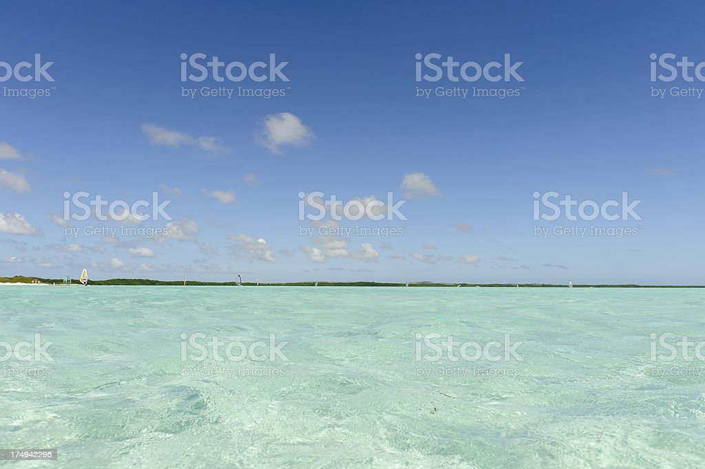 lac bay, sorobon, bonaire, surfers paradise royalty-free stock photo