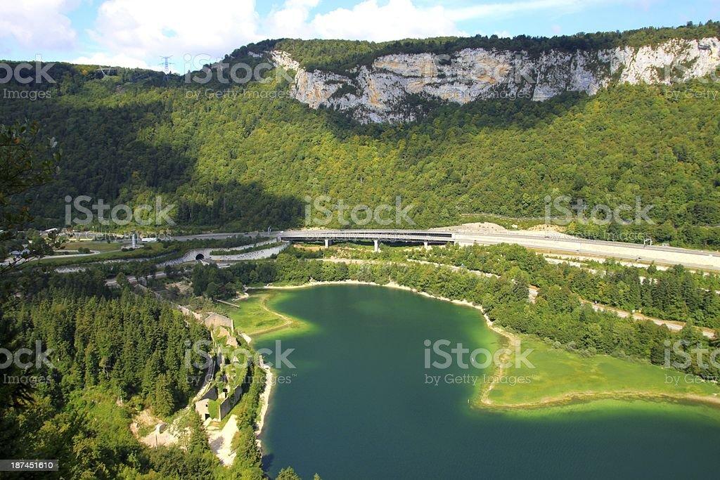 Lac de Sylans, Ain stock photo