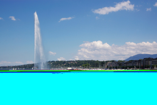 Lac Leman Geneva fountain