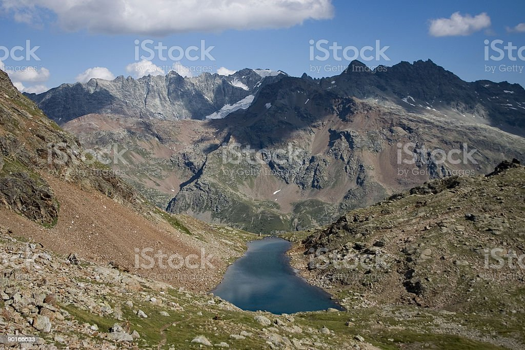 Lac Long (Bionaz, Valpelline, Italy) 04 royalty-free stock photo