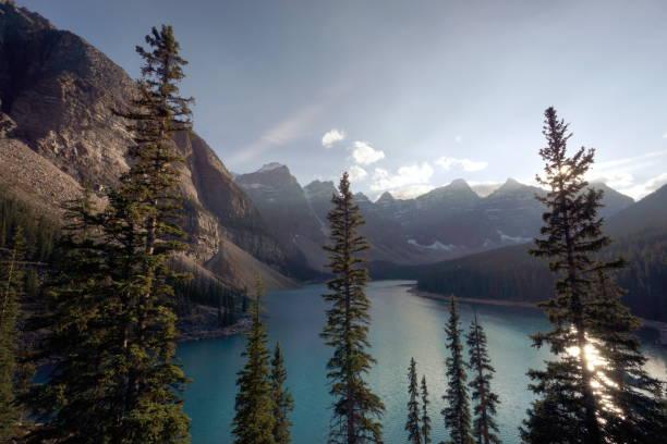 Lac Moraine, Alberta, Canada stock photo