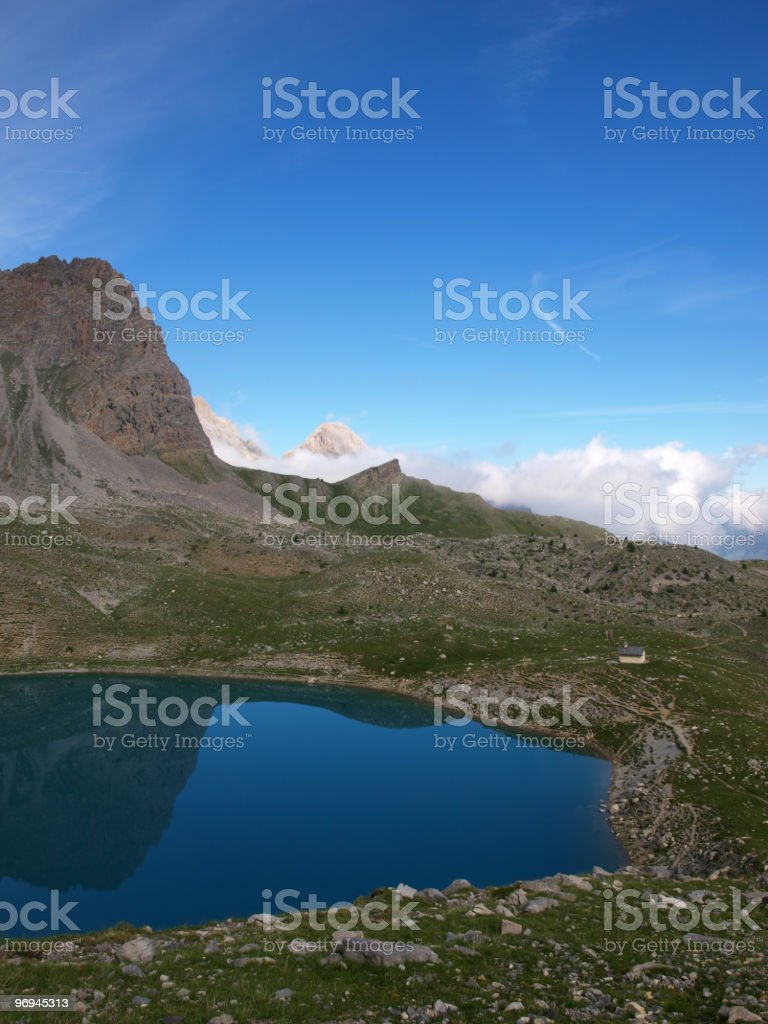 Lac Ste-Anne in the French Alps royalty-free stock photo