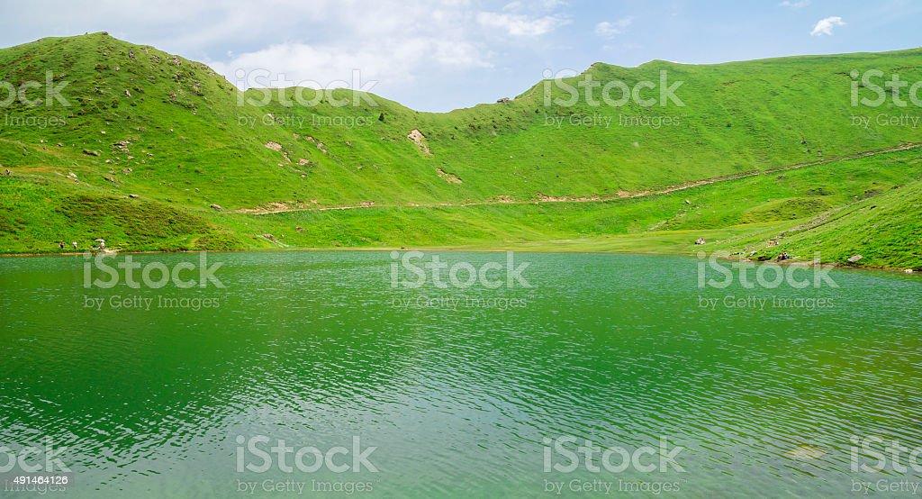Lac Vert in Valais, region touristic Portes du Soleil , Switzerland stock photo