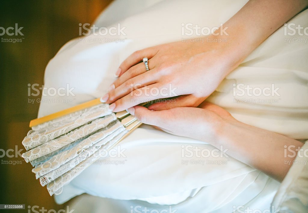 Lace and Fan stock photo