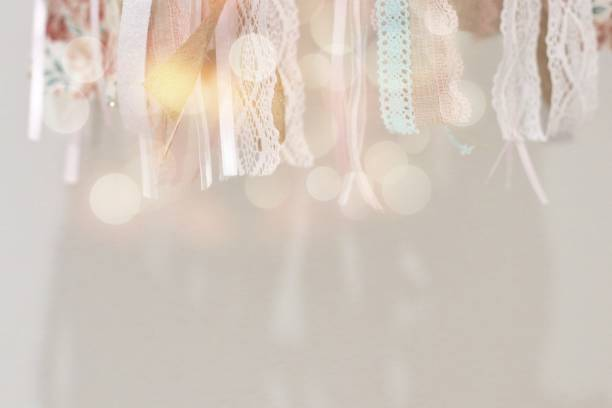 Lace Background Light and lace in baby girl room lace textile stock pictures, royalty-free photos & images