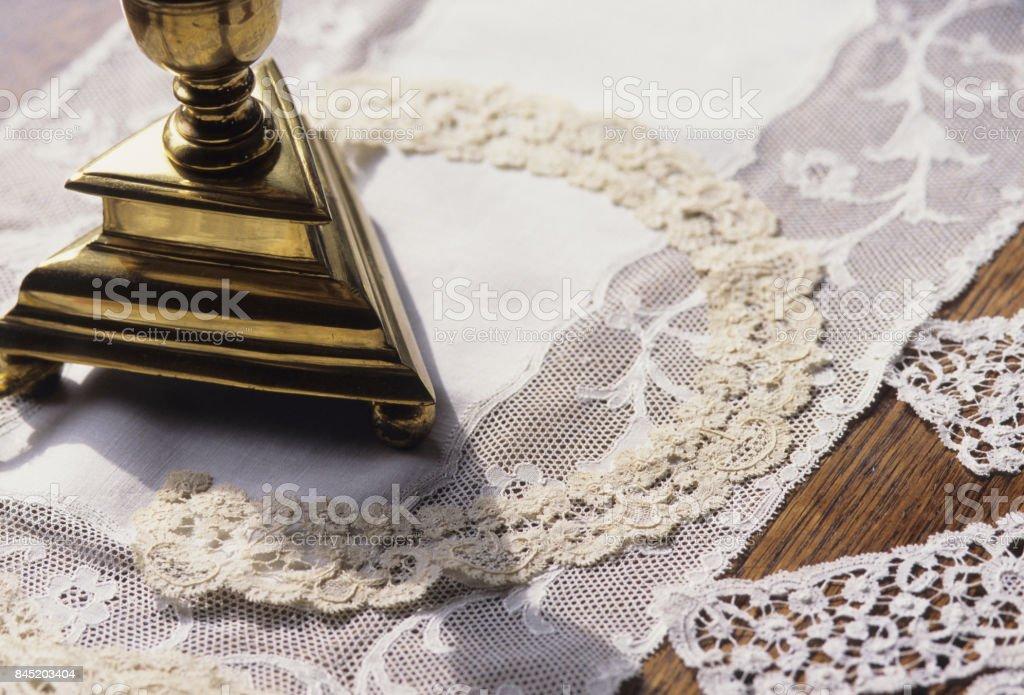 Lace filigree stock photo