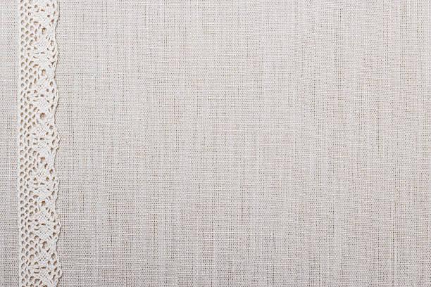 koronki tkanina tło wstążka na obrusie - koronka zdjęcia i obrazy z banku zdjęć