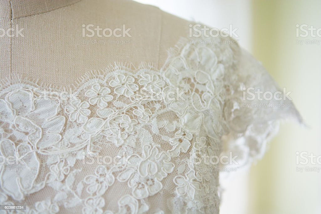 lace top dress stock photo