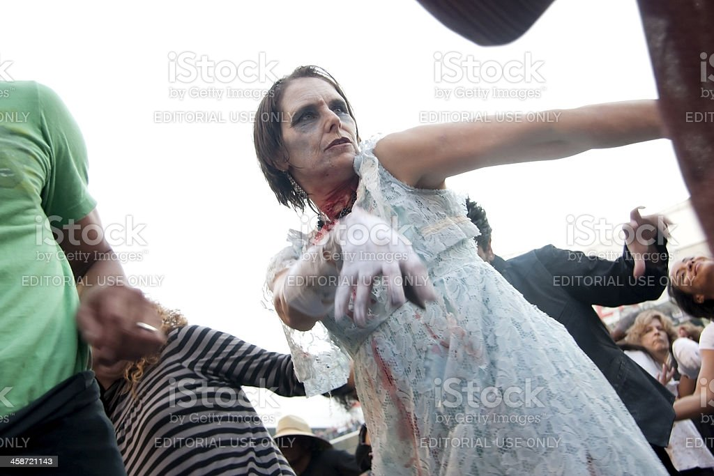 Lace zombie royalty-free stock photo