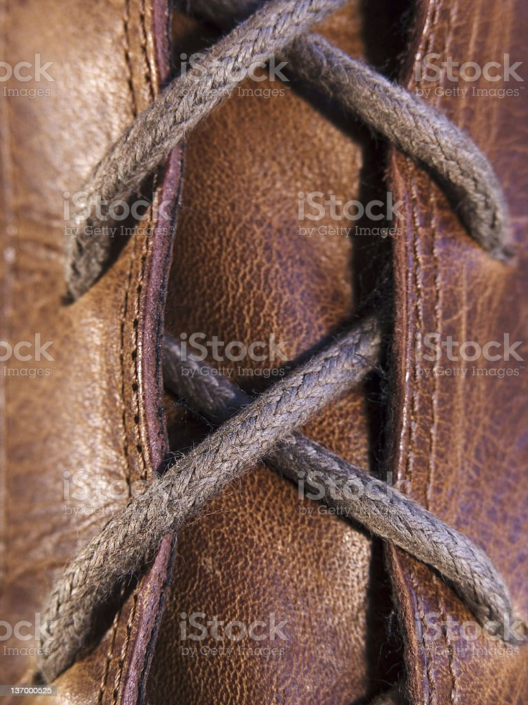 Laced Up royalty-free stock photo