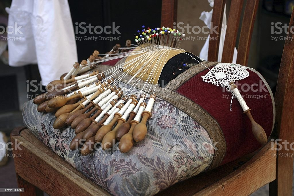 lacemaking royalty-free stock photo