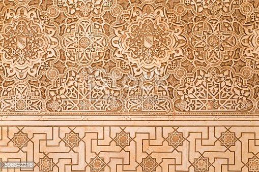 istock Lacework stucco in Alhambra of Granada 898842216