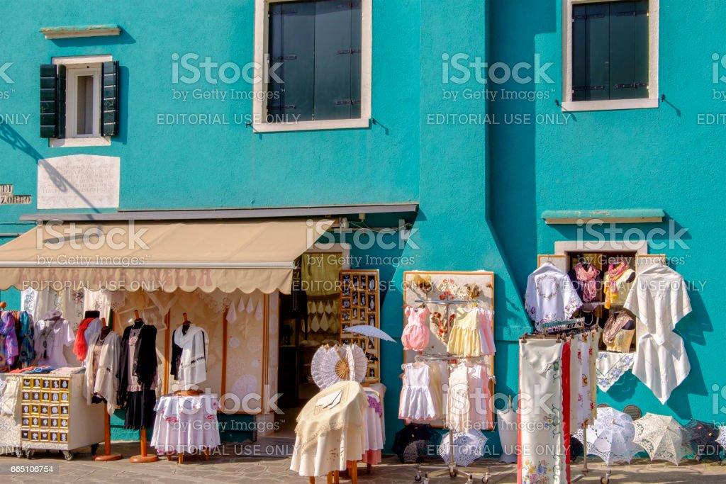 Laceworks in Burano, Venice - Italy stock photo