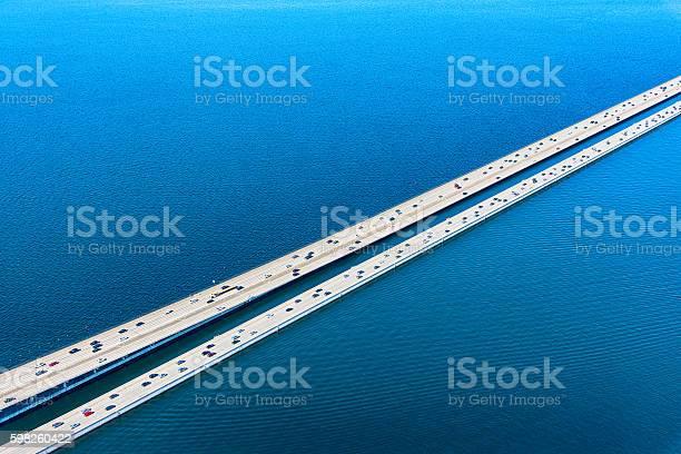 Lacey V Murrow Bridge Across Lake Washington In Seattle Stockfoto und mehr Bilder von Ansicht von oben