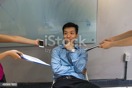 istock Lack of focusing on work is popular nowadays 495667850