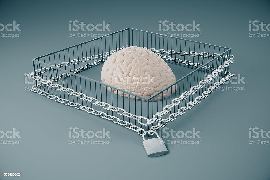 Lack of free thinking stock photo