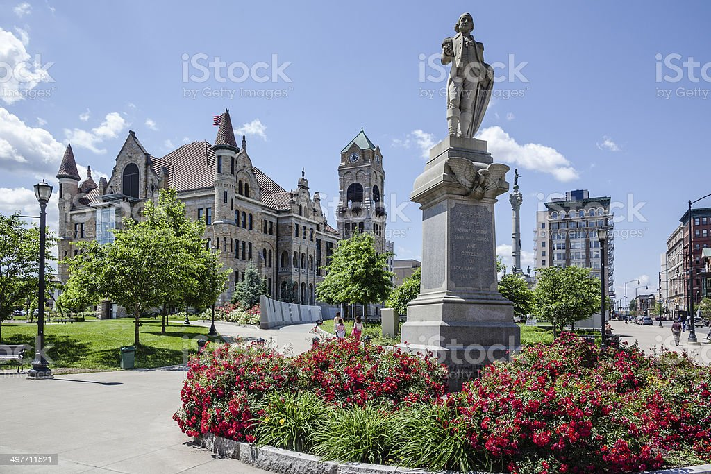 Lackawanna County Courthouse Square, Pennsylvania, USA stock photo
