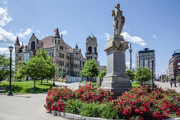 lackawanna county courthouse square, pennsylvania, usa - scranton pa stock photos and pictures