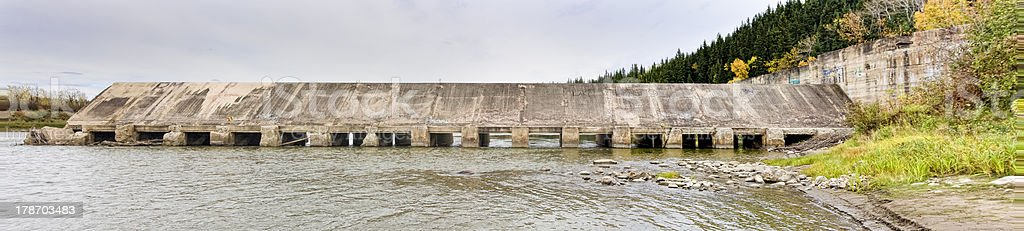LaColle Falls Hydroelectric Dam stock photo