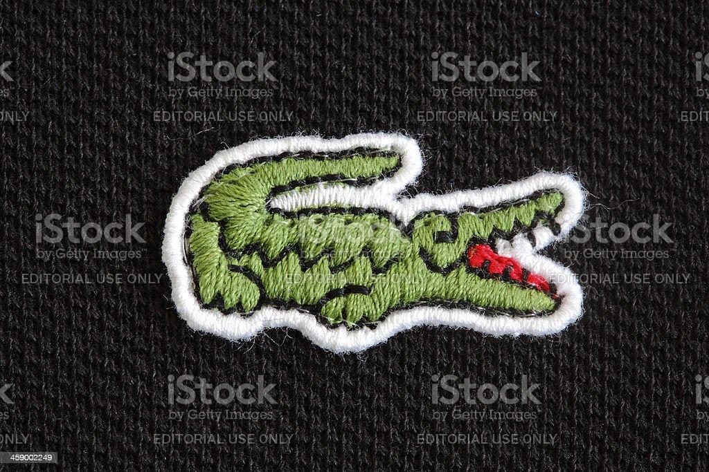 Lacoste Logo bildbanksfoto