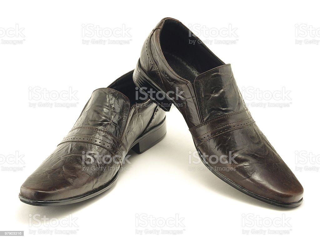 Lacquered dark shoes royalty-free stock photo