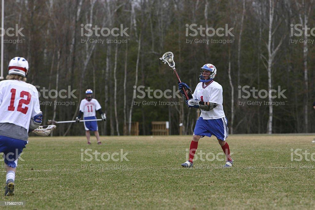lacrosse pass royalty-free stock photo