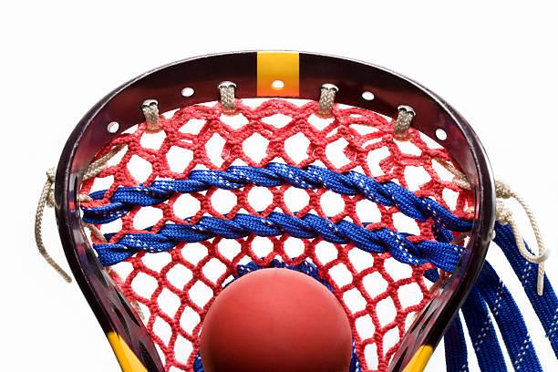 kij do gry w lacrosse i piłka - kij do gry w lacrosse zdjęcia i obrazy z banku zdjęć
