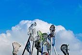 istock Lacrosse sticks in the Sky 154038949