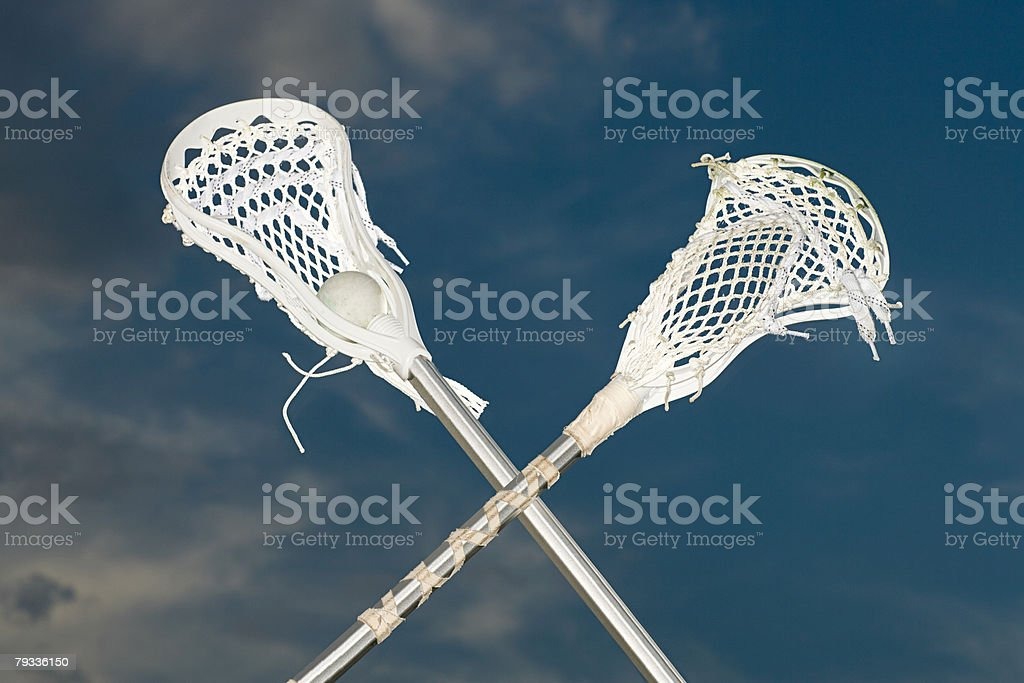 Lacrosse sticks royalty-free stock photo