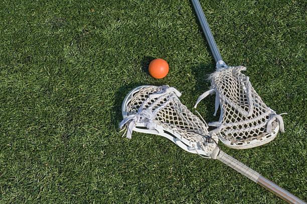 lacrosse stix i piłka - kij do gry w lacrosse zdjęcia i obrazy z banku zdjęć
