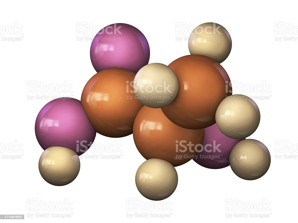 Lactic Acid Molecule stock photo