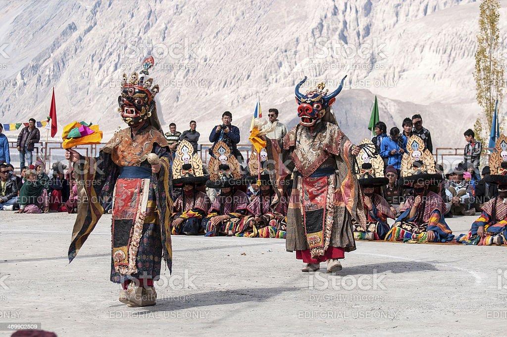 Ladakh festival stock photo
