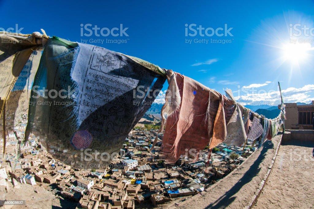 Ladakhi Prayer flags stock photo