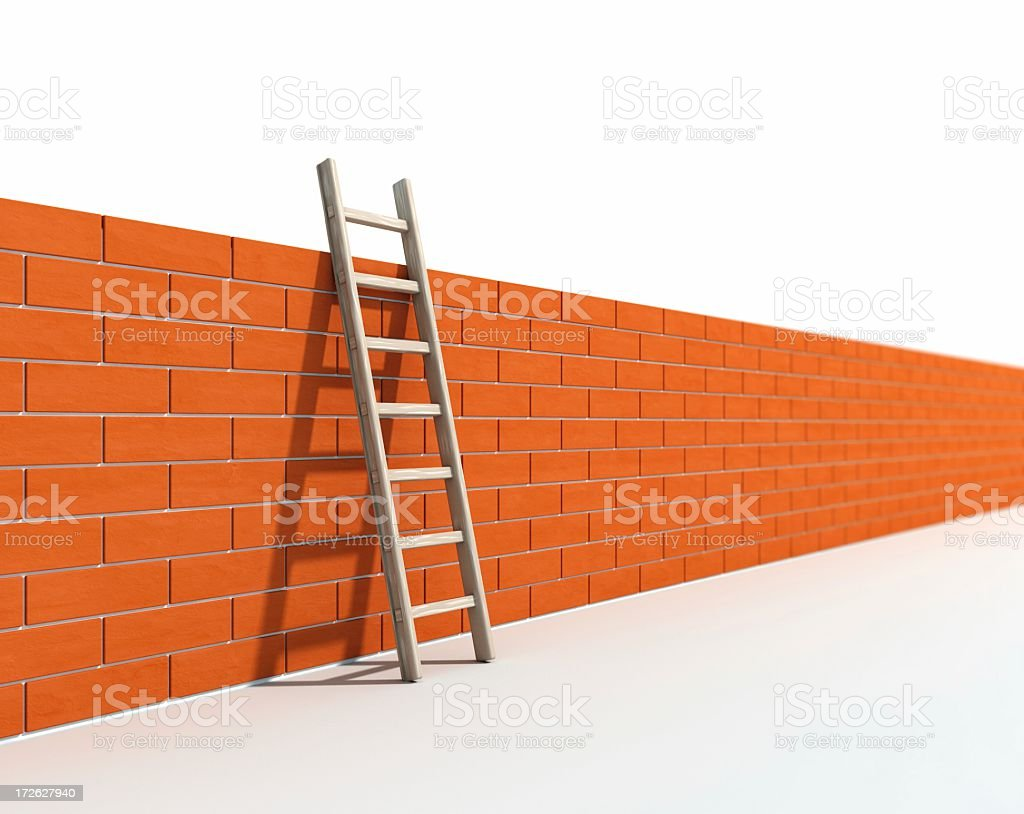 Ladder and Wall I royalty-free stock photo