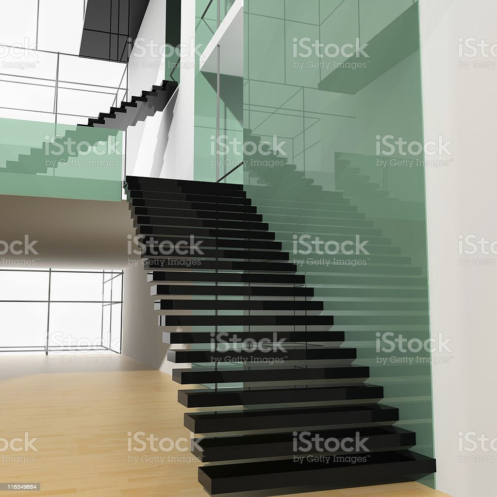 Ladder at office royalty-free stock photo