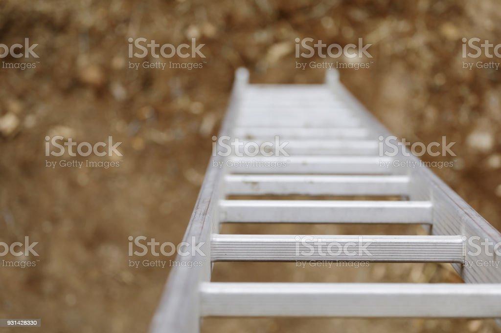 Leiter hautnah mit Textfreiraum – Foto