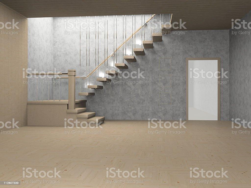 Leiter in einem leeren Inneren – Foto