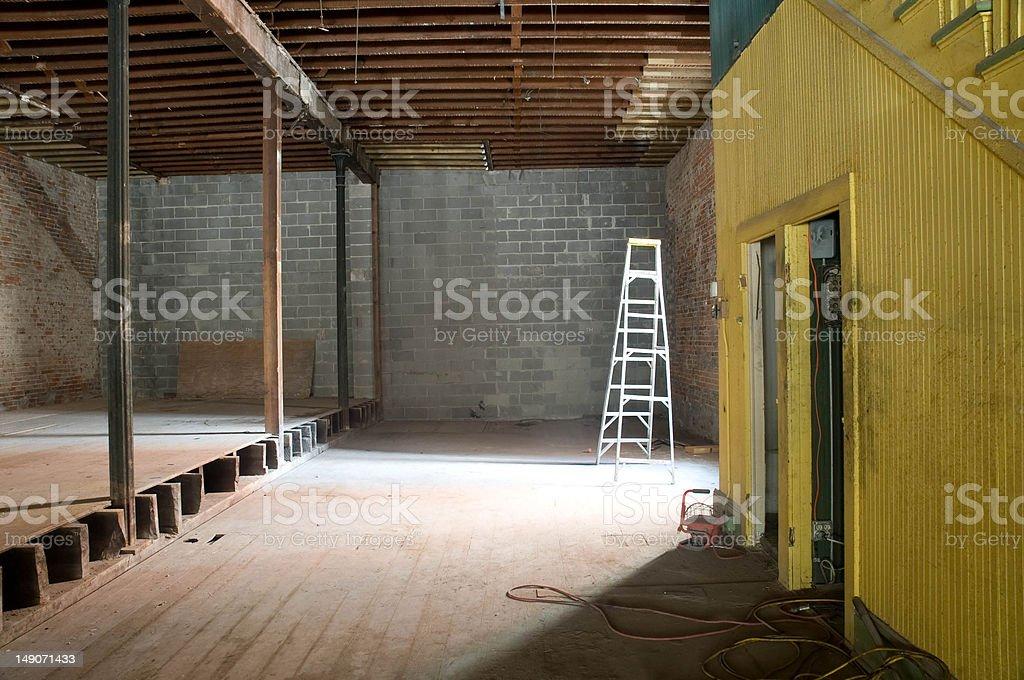 Ladder in Loft royalty-free stock photo