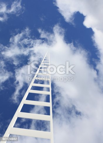 istock Ladder in the sky 92124932