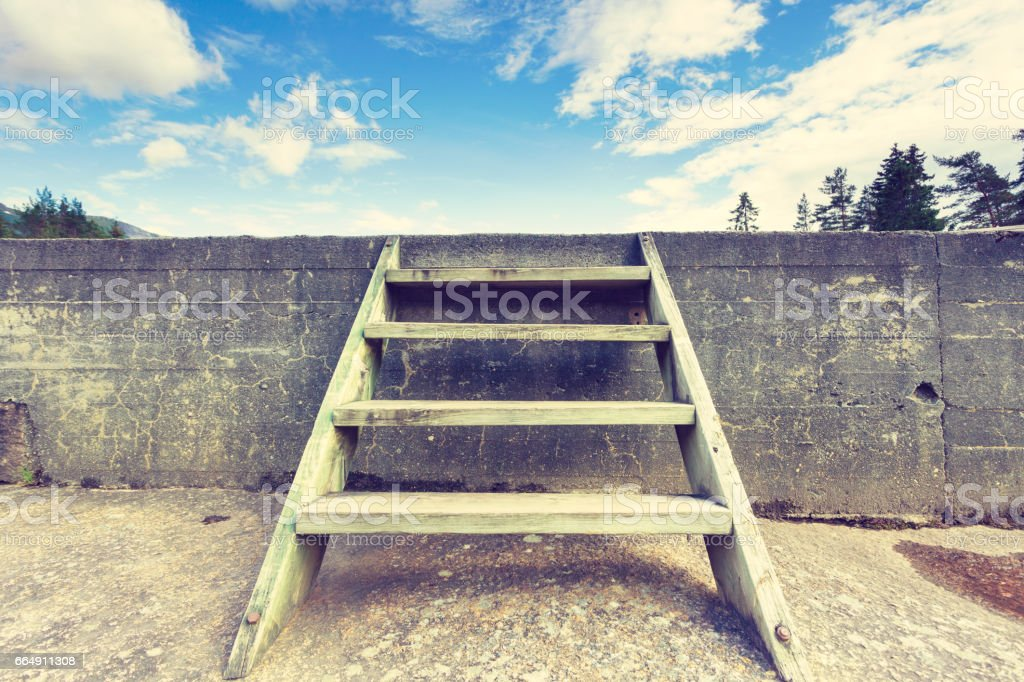 Ladder into sky foto stock royalty-free