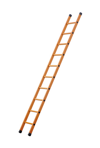 Ladder (clipping path!) isolated on white background