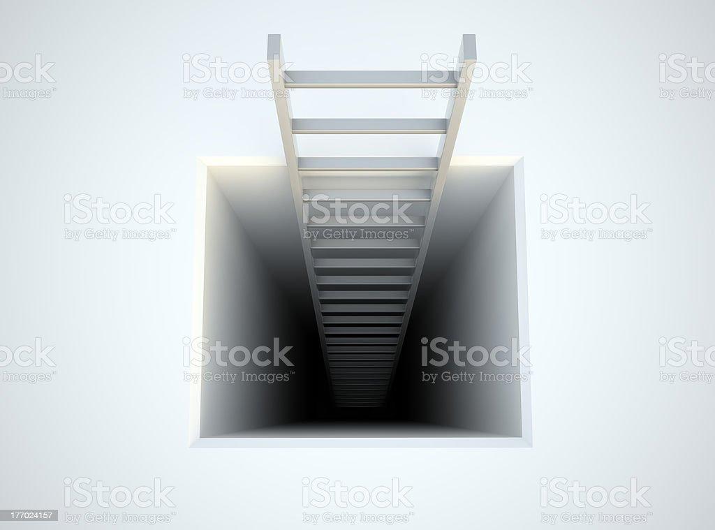 Leiter führt von der U-Bahn – Foto