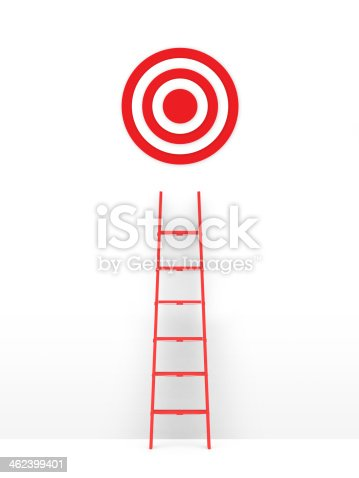 istock Ladder Leading Target 462399401