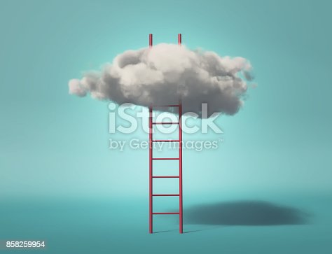 istock Ladder leading to a clouds 858259954