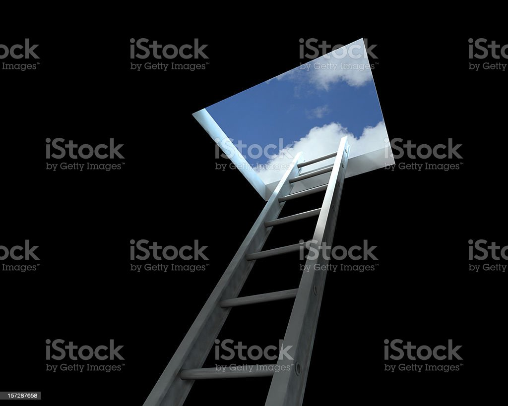 Ladder leading to the open sky royalty-free stock photo